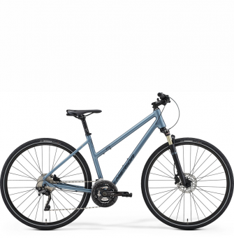 Велосипед Merida Crossway XT Edition Lady (2021) MattSteelBlue/DarkBlue