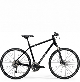 Велосипед Merida Crossway 300 (2021) GlossyBlack/MattSilver