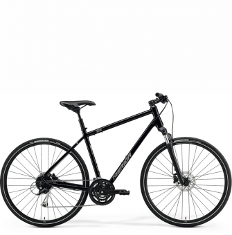 Велосипед Merida Crossway 100 (2021) GlossyBlack/MattSilver