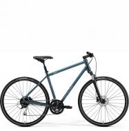 Велосипед Merida Crossway 100 (2021) TealBlue/SilverBlue/Lime