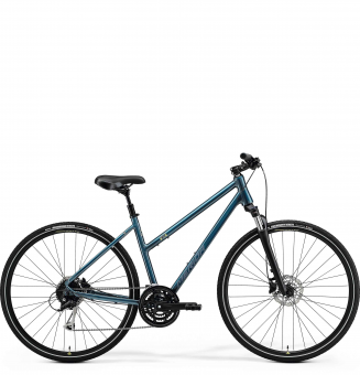 Велосипед Merida Crossway 100 Lady (2021) TealBlue/SilverBlue/Lime
