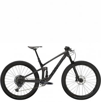Велосипед Trek Top Fuel 9.8 GX (2021) Matte Raw Carbon/Voodoo Trek Black