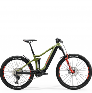Электровелосипед Merida eOne-Forty 500 (2021) MattGreen/Black/Red