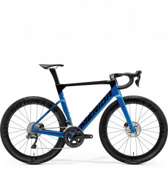 Велосипед Merida Reacto 8000-E (2021) Black/LightBlue