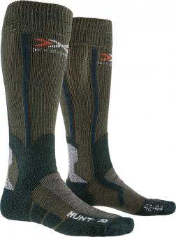 Термоноски X-Socks Hunt long Olive Green/Forest Green