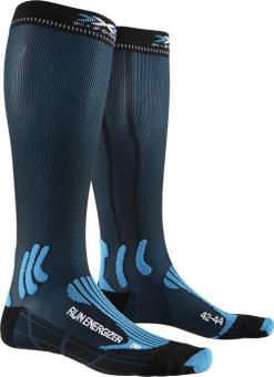 Термоноски для бега X-Socks Run Energizer Teal Blue/Opal Black