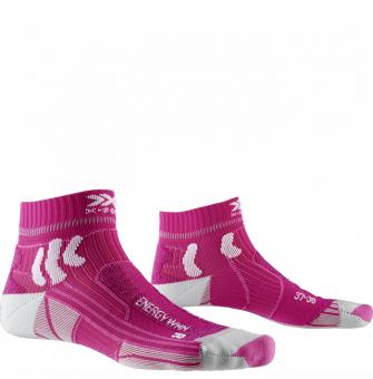 Термоноски для бега женские X-Socks Marathon Energy Flamingo Pink/Arctic White