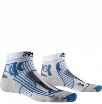 Термоноски для бега X-Socks Marathon Energy Arctic White/Teal Blue