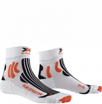 Термоноски для бега X-Socks Run Speed One Arctic White/Sunset Orange