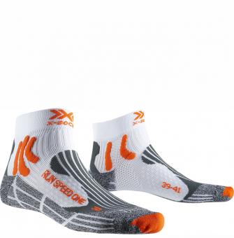 Термоноски для бега X-Socks Run Speed One White/X-Orange/Grey