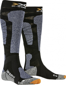 Термоноски X-Socks Carve Silver 4.0 Black/Blue Melange