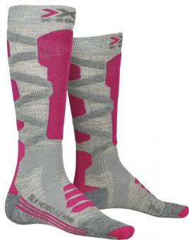 Термоноски женские X-Socks Ski Silk Merino 4.0 Grey Melange/Pink