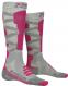 Термоноски женские X-Socks Ski Silk Merino 4.0 Grey Melange/Pink 1
