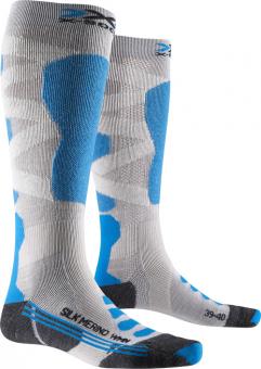 Термоноски женские X-Socks Ski Silk Merino 4.0 White/Black/Turquoise