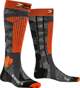 Термоноски X-Socks Ski Rider 4.0 Stone Grey Melange/X-Orange