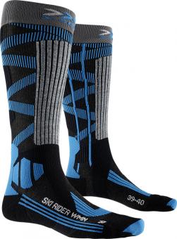 Термоноски женские X-Socks Ski Rider 4.0 Dark Grey Melange/Blue