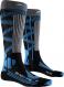 Термоноски женские X-Socks Ski Rider 4.0 Dark Grey Melange/Blue 1