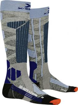 Термоноски женские X-Socks Ski Rider 4.0 Stone Grey Melange/Mineral Blue