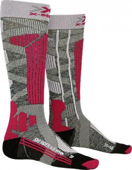 Термоноски женские X-Socks Ski Rider 4.0 Stone Grey Melange/Pink