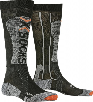 Термоноски X-Socks Ski Energizer Light 4.0 Black/Stone Grey Melange