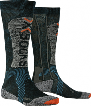 Термоноски X-Socks Ski Energizer Light 4.0 Petrol/Stone Grey Melange