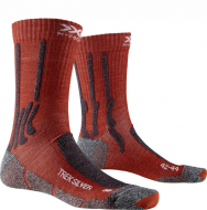 Носки X-Socks Trek Silver Crimson Red/Dolomite Grey