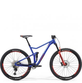 Велосипед Merida One-Twenty 9.600 (2021) DarkBlue/Red/Silver-Blue