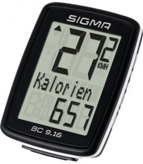 Велокомпьютер Sigma BC 9.16 Topline 9 функций