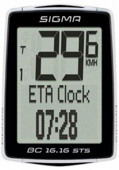 Велокомпьютер Sigma BC 16.16 STS CAD 01618 16 функций беспроводной
