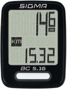 Велокомпьютер проводной SIgma BC 5.16 чёрный