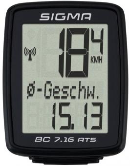 Велокомпьютер Sigma BC 7.16 ATS (07162) black