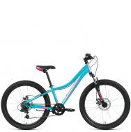 Велосипед Forward Jade 24 2.0 disc (2021) бирюзовый/розовый