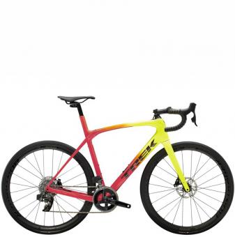 Велосипед Trek Domane SLR 6 eTap (2022) Radioactive Coral to Yellow Fade