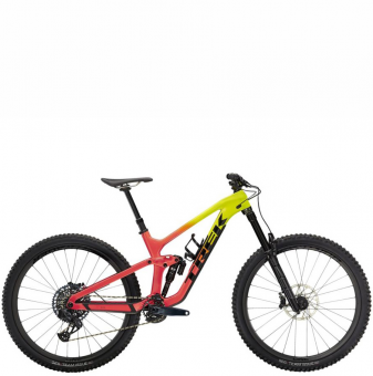 Велосипед Trek Slash 9.8 GX AXS (2022) Radioactive Coral to Yellow Fade
