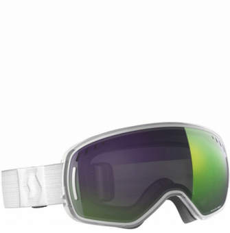 Горнолыжная маска Scott LCG white, enhancer green chrome (2021)
