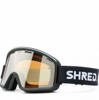 Маска Shred Monocle black - Silver Mirror (VLT 23%) (2020)