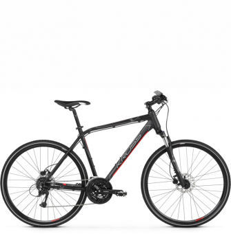 Велосипед Kross Evado 5.0 (2021) Black/Red Matte