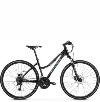 Велосипед Kross Evado 5.0 (2021) Black/Turquoise Glossy