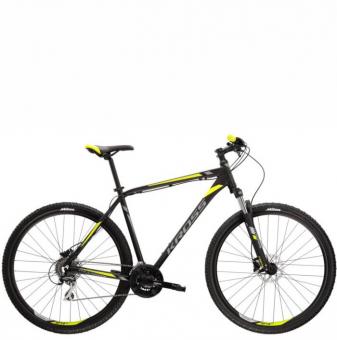 Велосипед Kross Hexagon 5.0 (2022) black/graphite/lime matte
