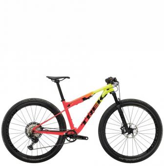 Велосипед Trek Supercaliber 9.8 XT (2022) Radioactive Yellow to Coral Fade
