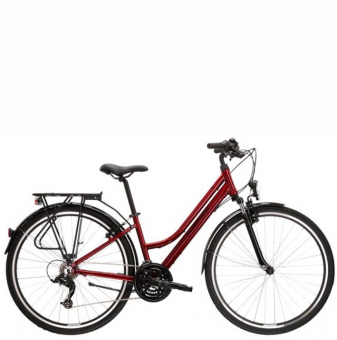 Велосипед Kross Trans 1.0 (2021) Ruby red/Black gloss