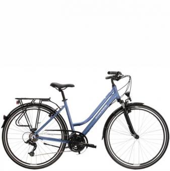 Велосипед Kross Trans 2.0 D (2021) Blue/White glossy