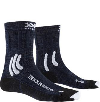 Носки X-Socks Trek X Merino WMN Midnight Blue/Arctic White (2021)