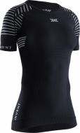 Футболка женская X-Bionic Invent LT Shirt Rond Neck SH SL Opal Black/Arctic White WMN