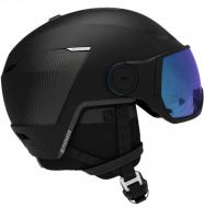 Шлем с визором Salomon Pioneer LT Visor Black/Univ M. Blue (2022)
