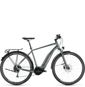 Электровелосипед Cube Touring Hybrid One 400 (2018) frostgreen´n´silver