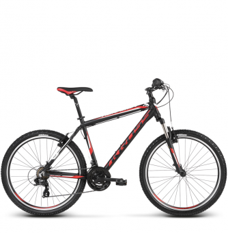Велосипед Kross Hexagon 1 (2018) black/red/white matte