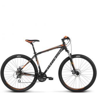 Велосипед Kross Hexagon 4 (2018) black/graphite/orange matte