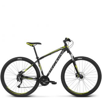 Велосипед Kross Hexagon 6 (2018) black/graphite/lime matte