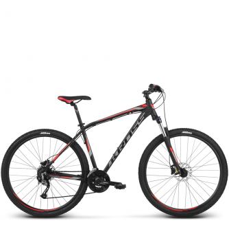 Велосипед Kross Hexagon 6 (2018) black/graphite/red matte